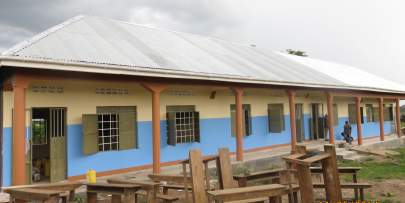 Great progress has been made in Kitongo with these great new brick school classrooms.